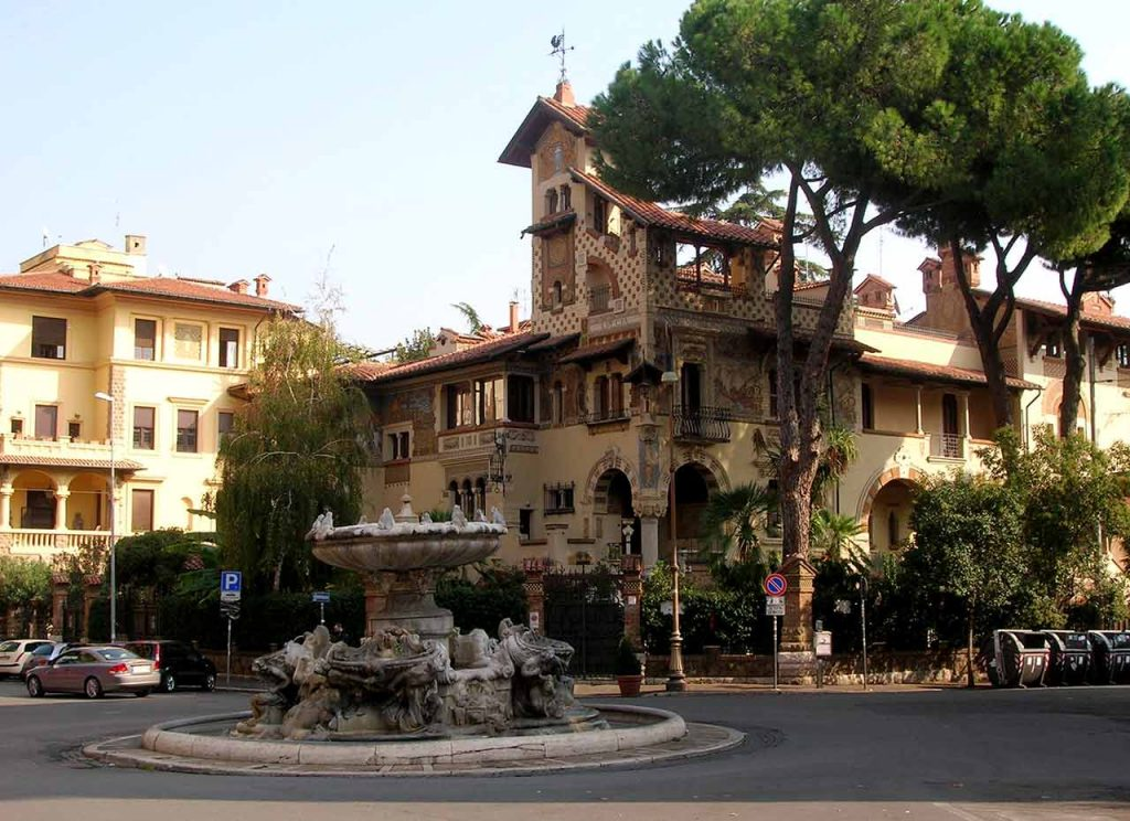 Brunnen Quartere Coppede Villa