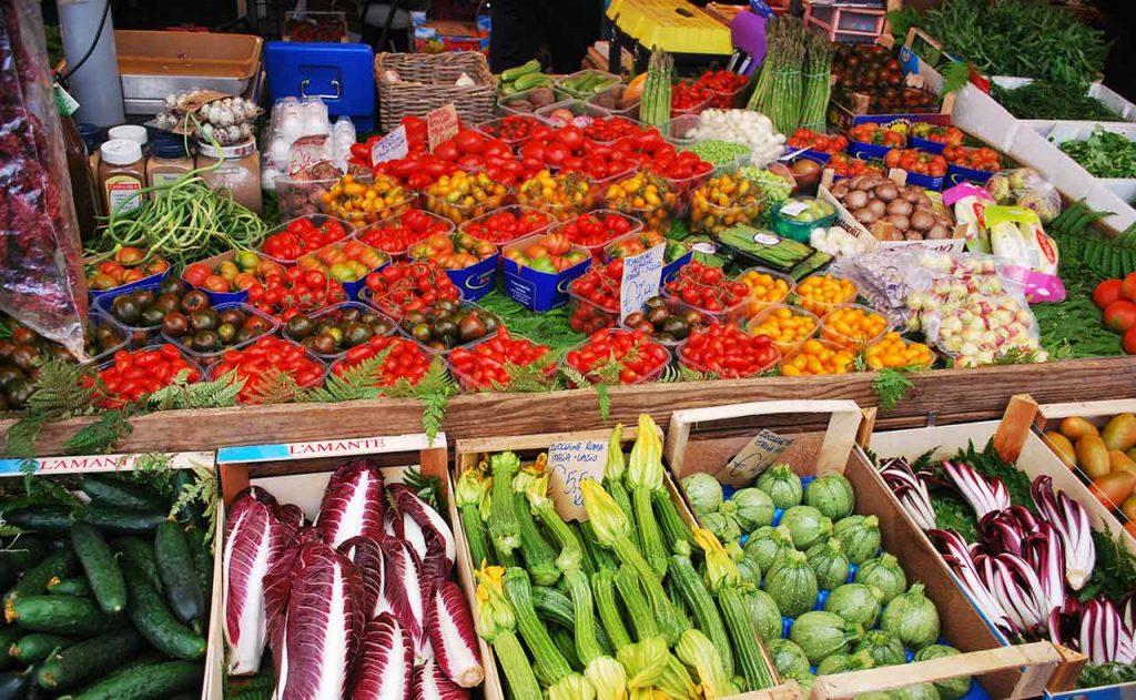 Campo de Fiori Rom Markt Gemüse