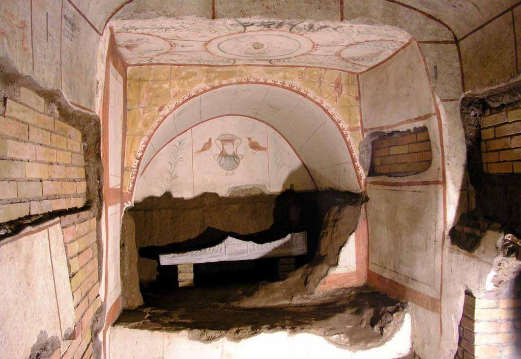 Domitilla Katakomben Fresken Rom