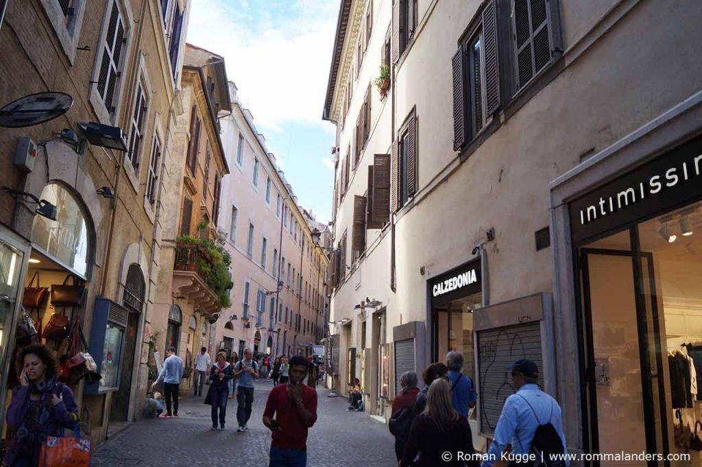 Einkaufsstrasse Rom Via del Giubbonari