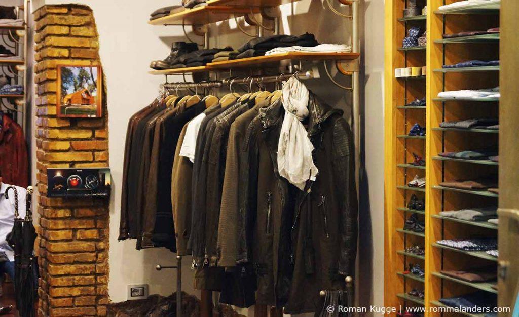 Lederjacke Rom Italienisch Mode Einkaufen