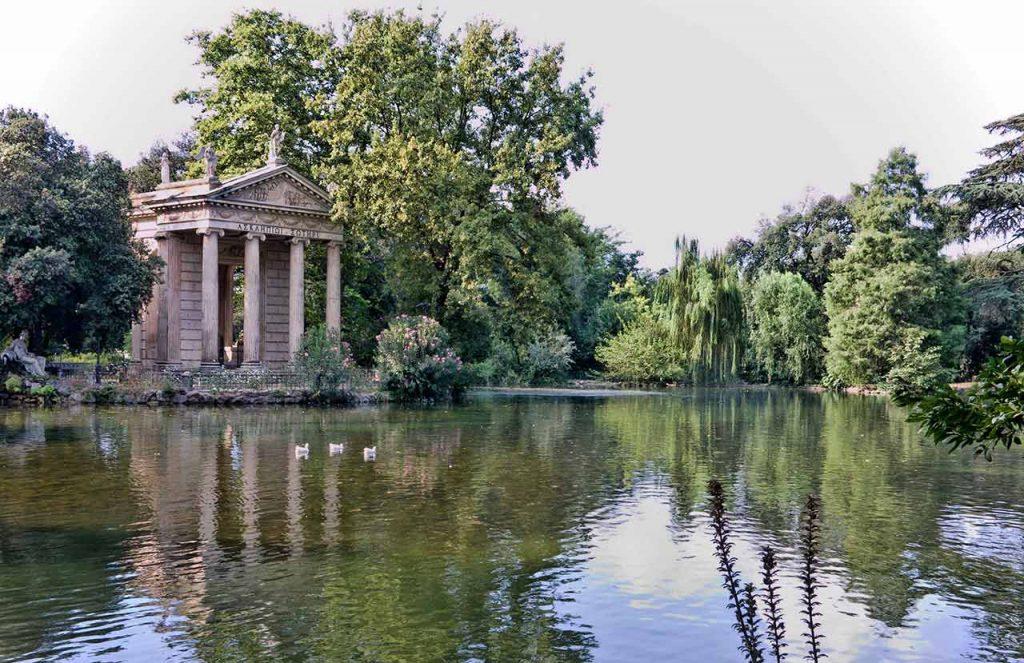 Park Villa Borghese in Rom