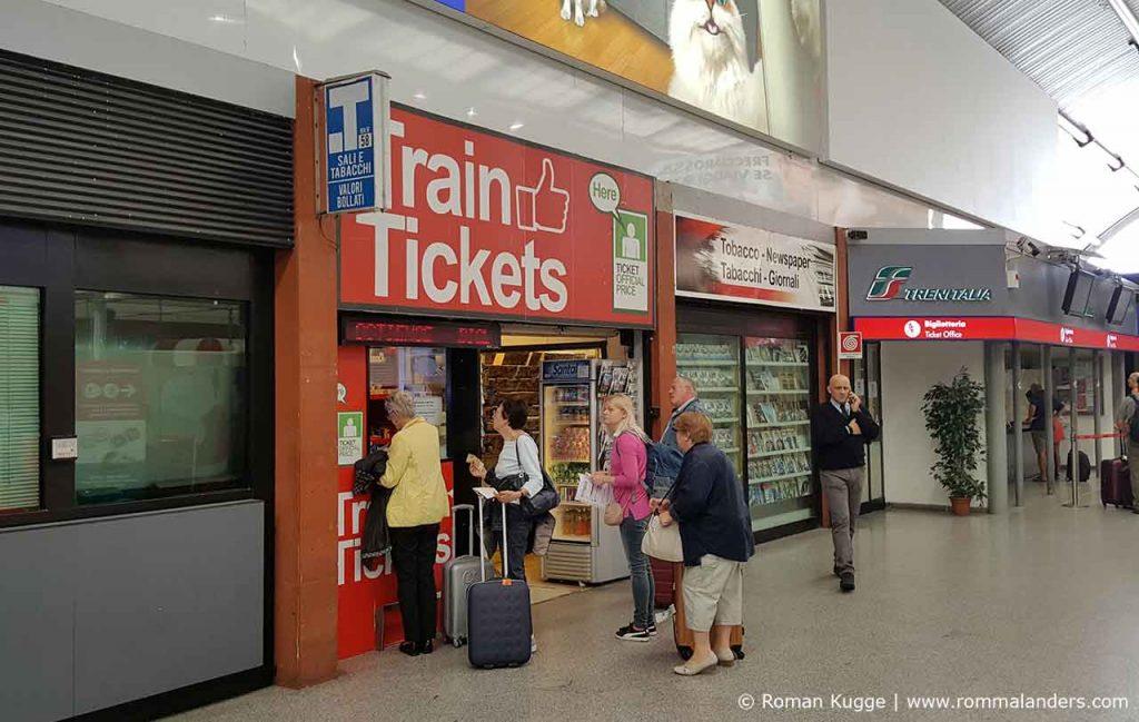 Tabakwarengeschäft Tickets Rom-Fiumcino Flughafen