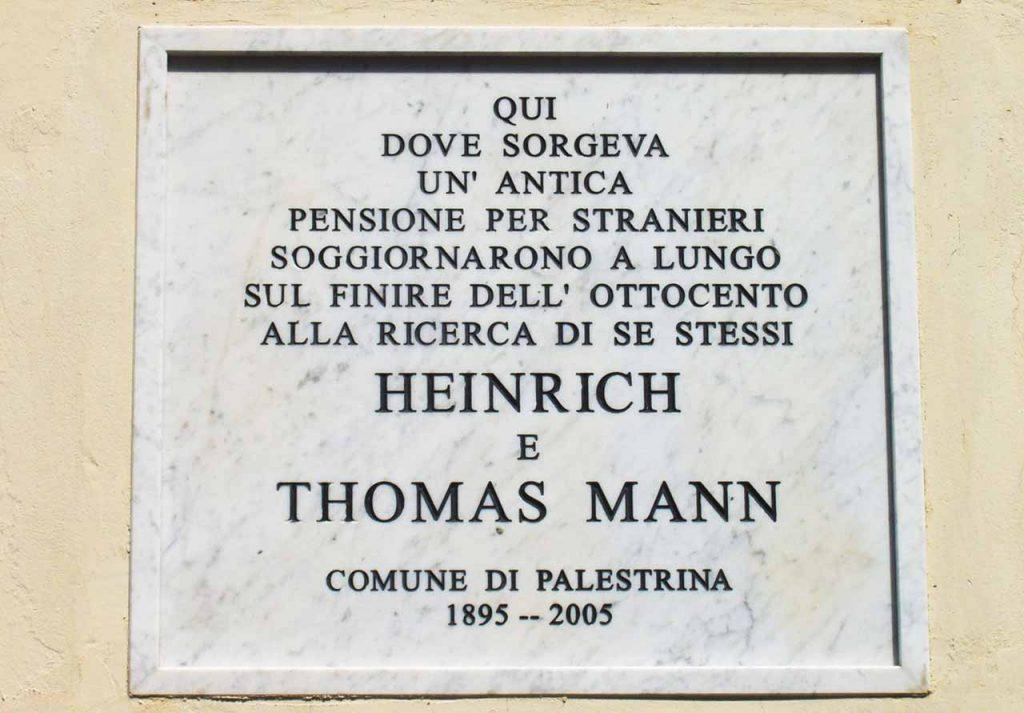 Thomas und Heinrich Mann in Palestrina