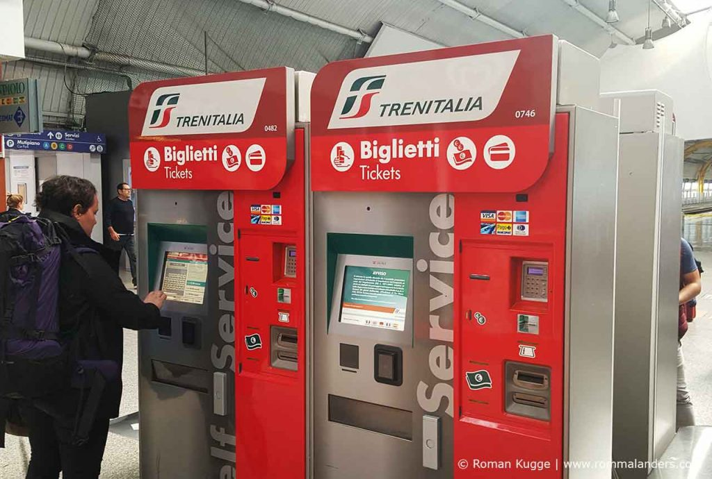 Ticketautomaten Rom Fiumcino Leonardo Express