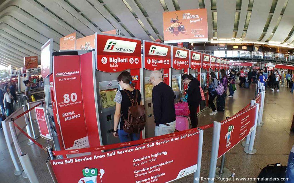 Ticketautomaten Bahnhof Termini Rom