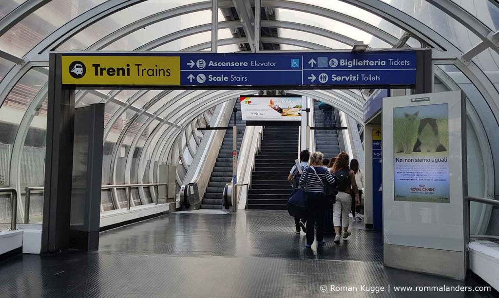 Unterführung Bahnhof Rom Fiumcino
