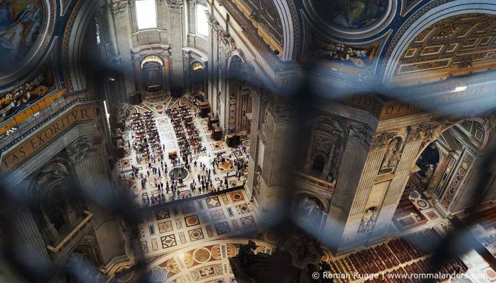 Ausblick Petersdom Kuppel Innen