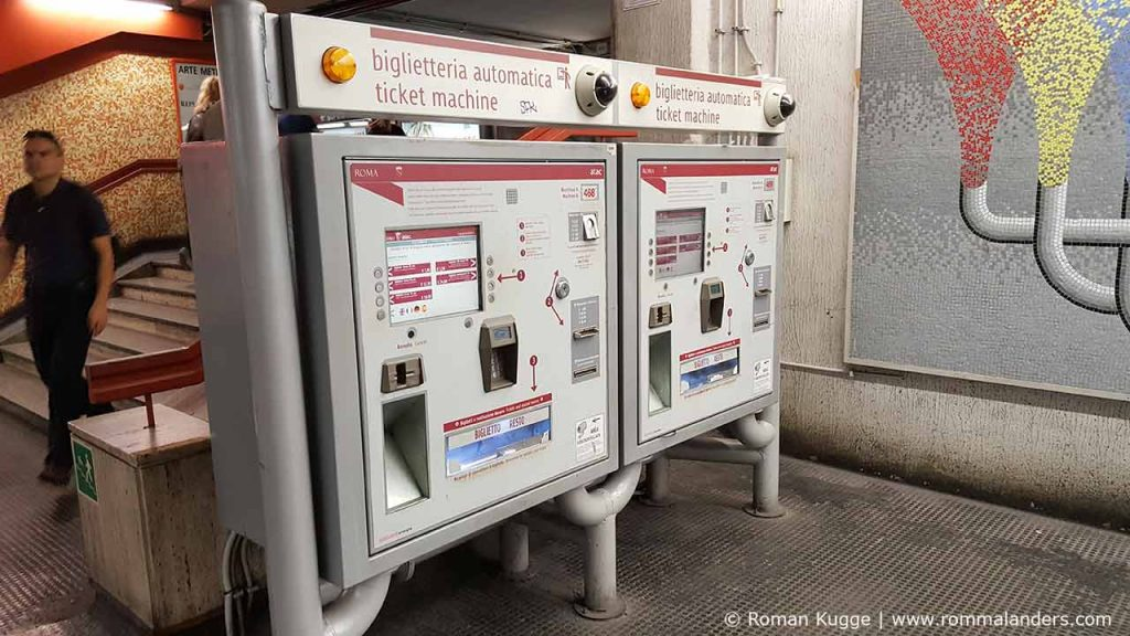 Fahrscheinautomat Ticketautomat Rom