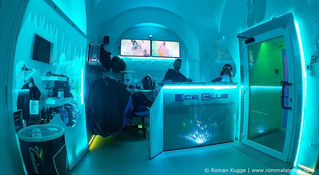 Ice Bar Rom Eingangsbereich