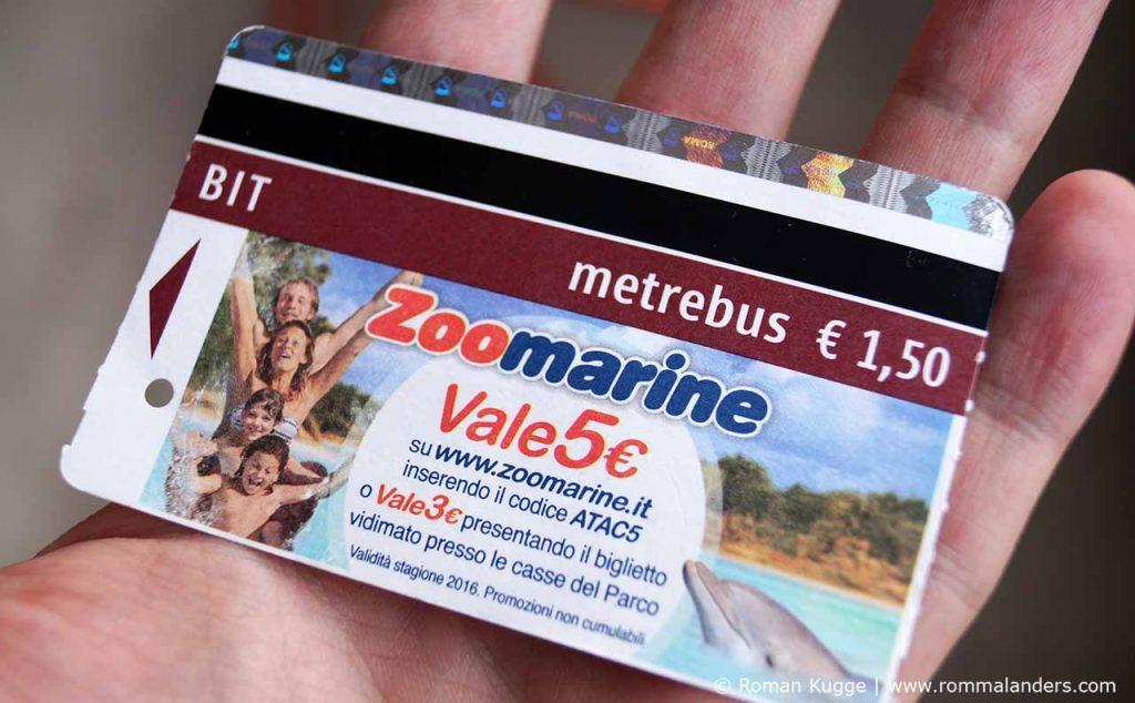 Metro Ticket Rom Roma BIT
