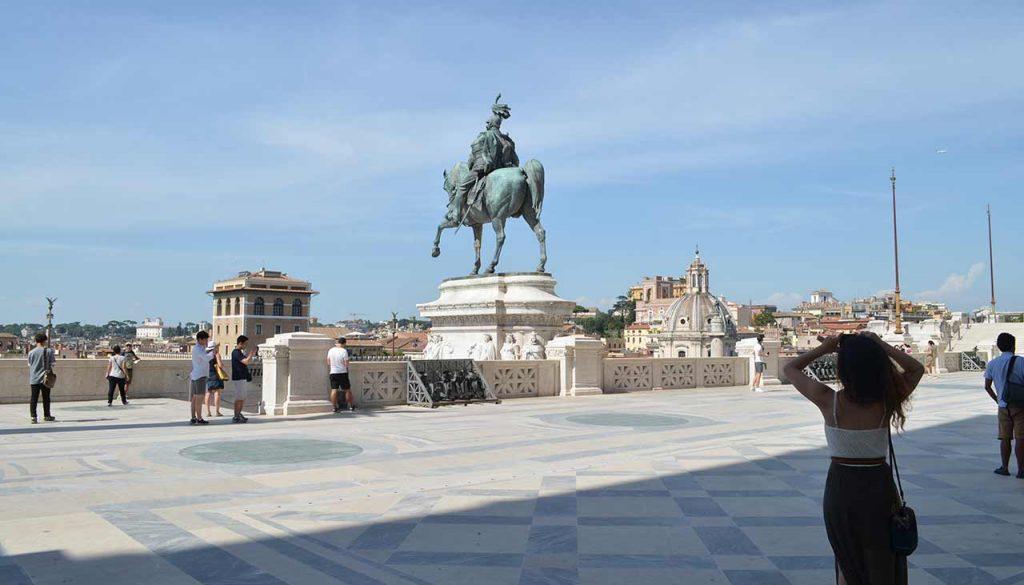 Reiter Statue Il Vittoriano