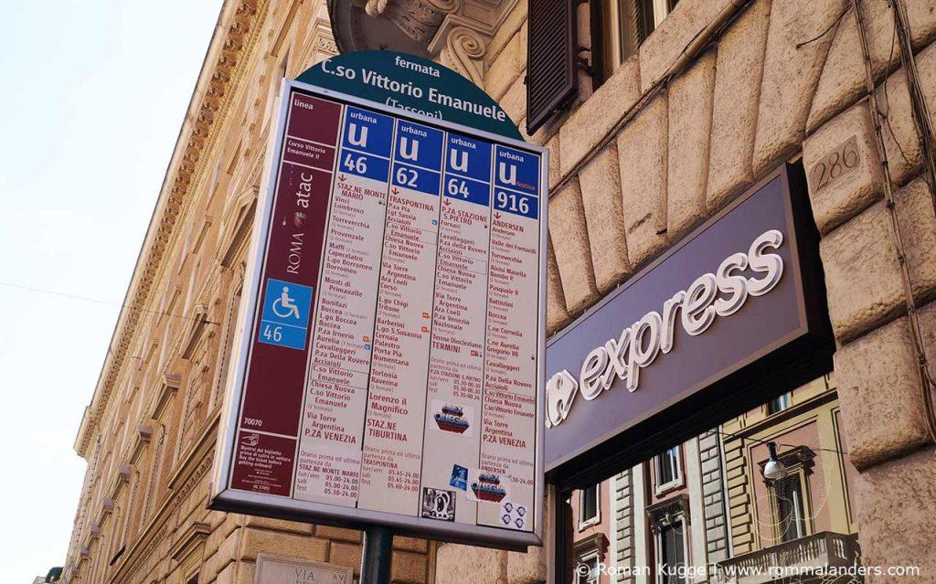 Buslinien Rom öffentliche Verkehrsmittel
