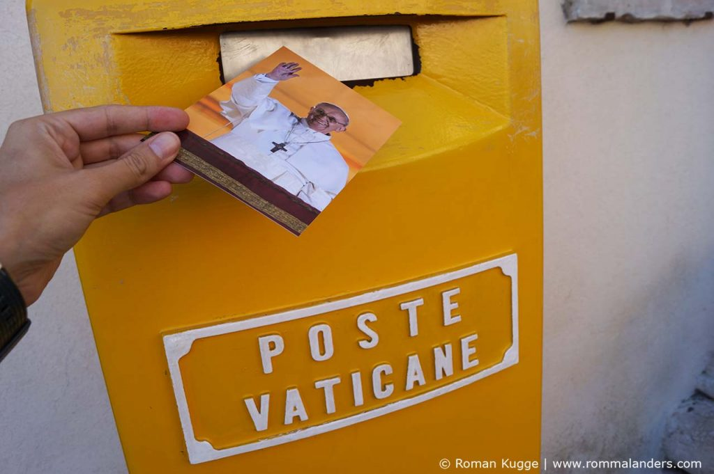 Post Vatikan Postkarte Papst