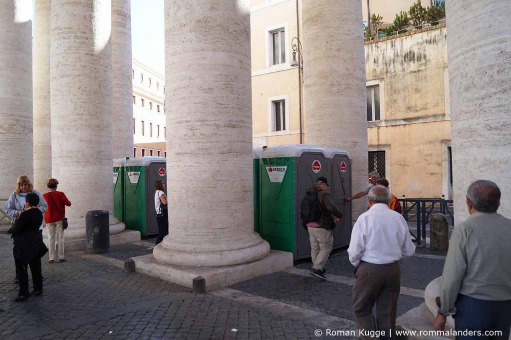 Toiletten Vatikan Petersplatz