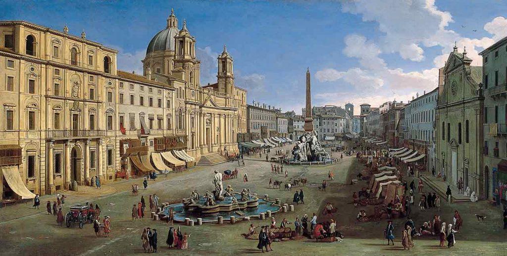 Geschichte Gemälde Piazza Navona Rom