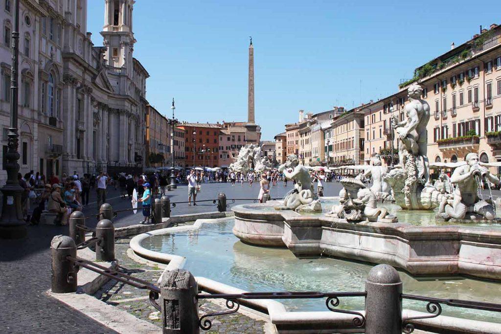 Piazza Navona Brunnen Fontana del Moro