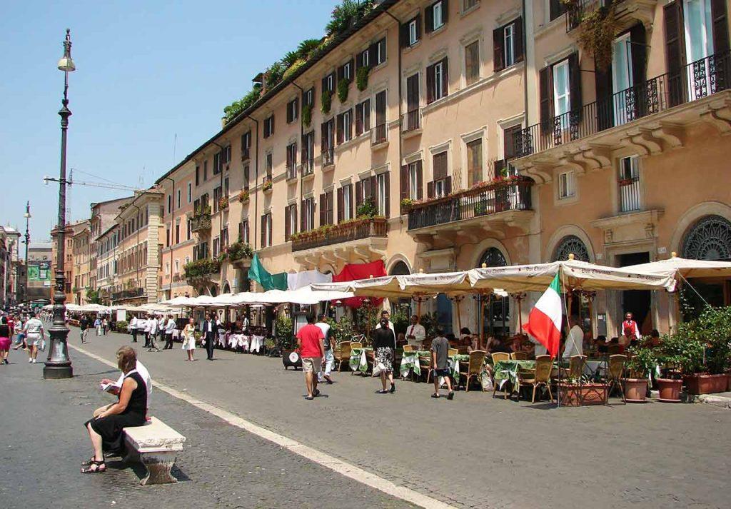 Piazza Navona Restaurants Cafes