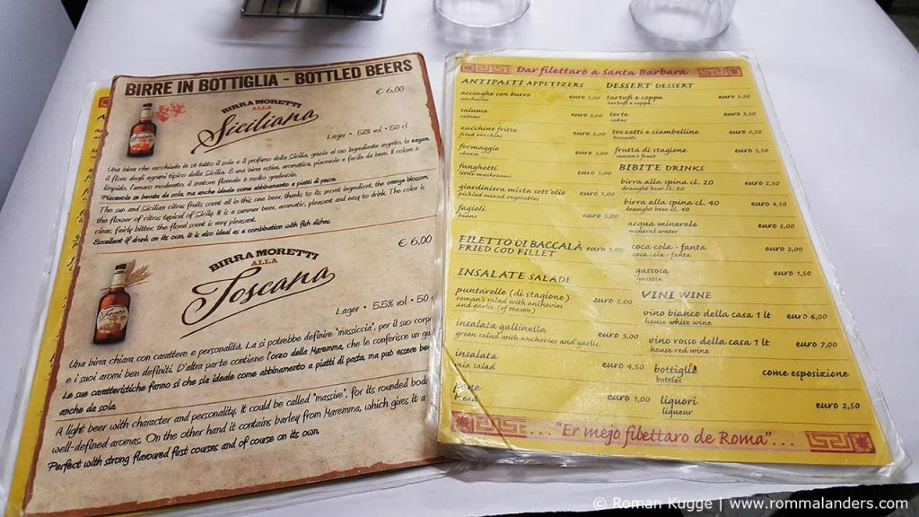 Dar Filetarro Filetti di Baccala Rom Karte Preise