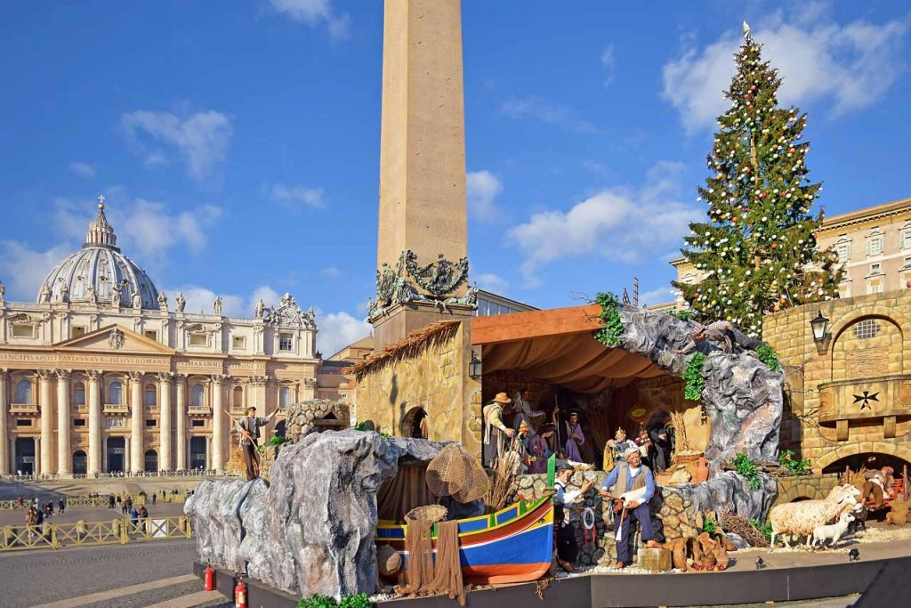 Krippe Rom Vatikan Weihnachten