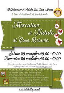 Rom Casa Betania Weihnachtsmarkt