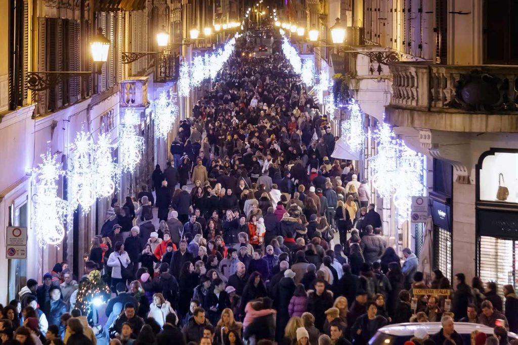 Shopping Einkaufen Rom Weihnachten