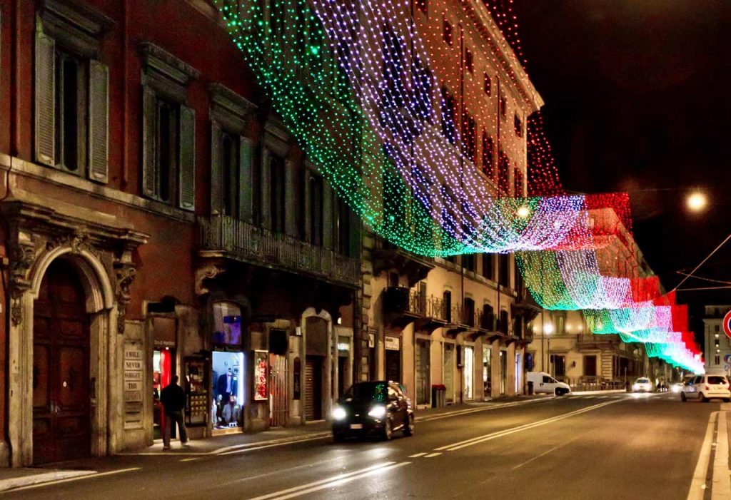 Weihnachtsbeleuchtung Rom