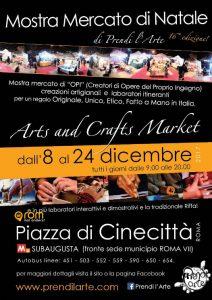Weihnachtsmarkt Prendi Larte Cinecitta Rom mal anders