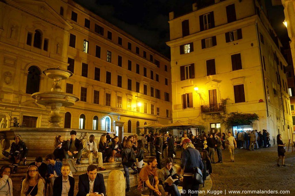 Sicherheit Nachts Rom Piazza Madonna dei Monti