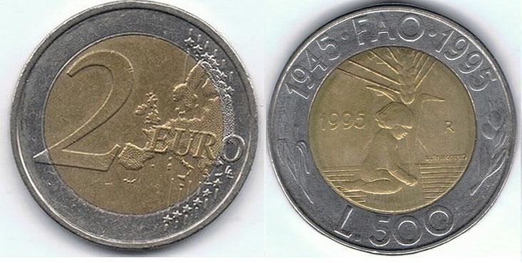 Touristenfalle Rom 2 Euro 500 Lire