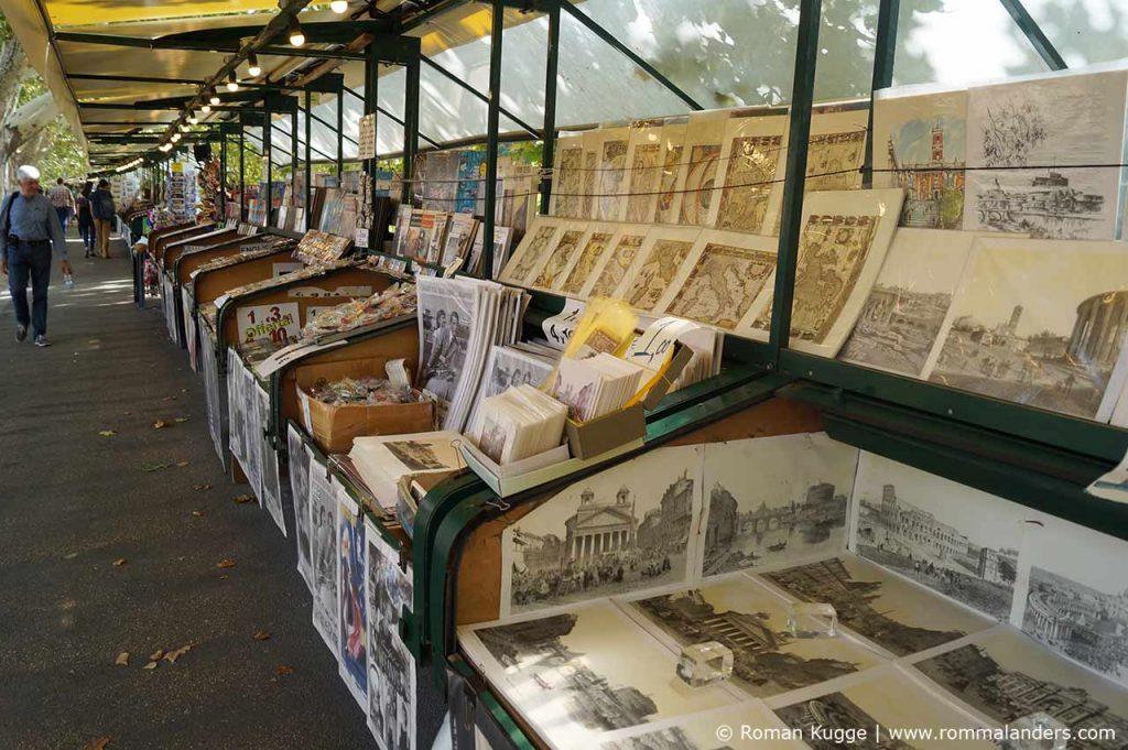 Flohmarkt Bücherverkäufer Rom am Ufer Tiber Engelsburg