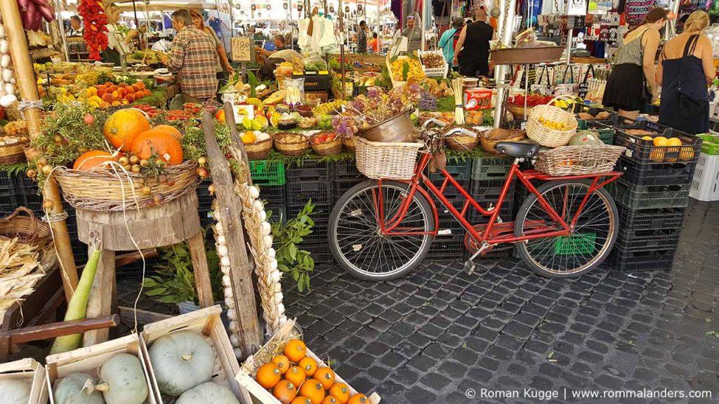 Markt Rom Mercato Campo de Fiori