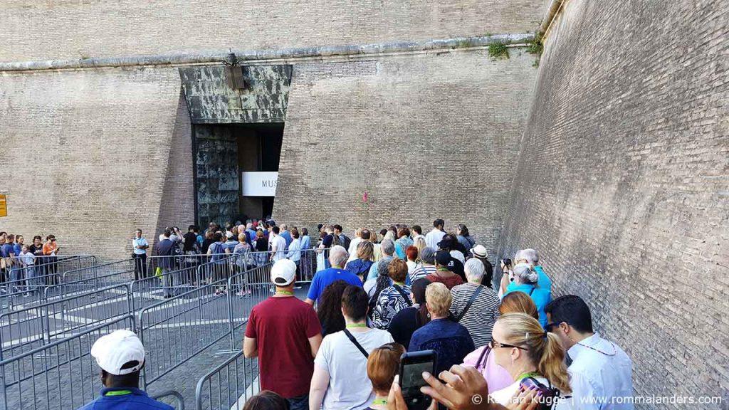 Vatikanische Museen Rom Warteschlange