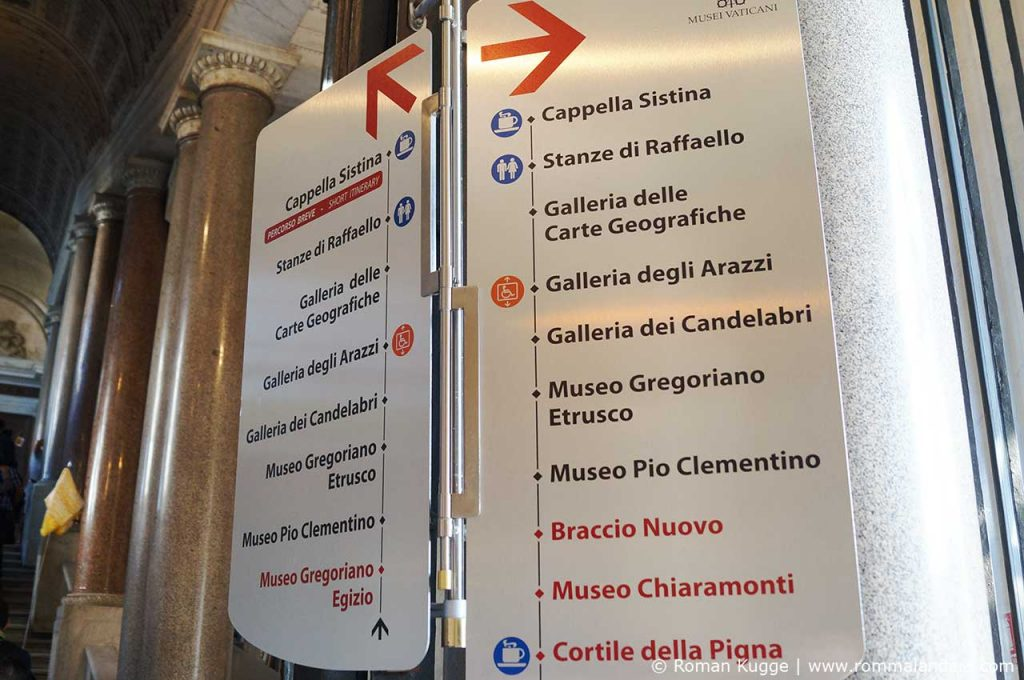 Vatikanische Museen Sixtinische Kapelle Wegbeschreibung