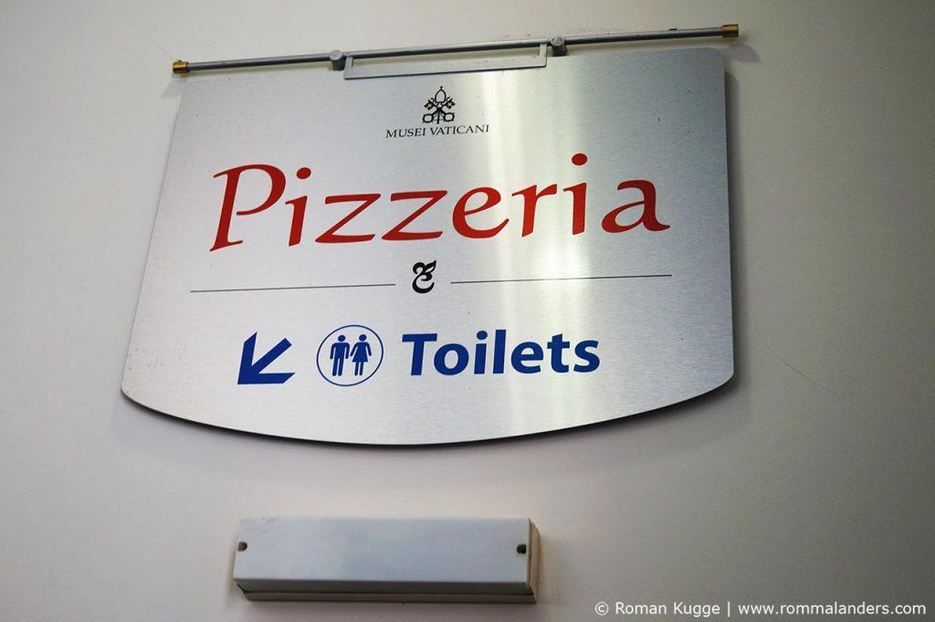 Vatikanische Museen Toiletten Pizzeria Verpflegung