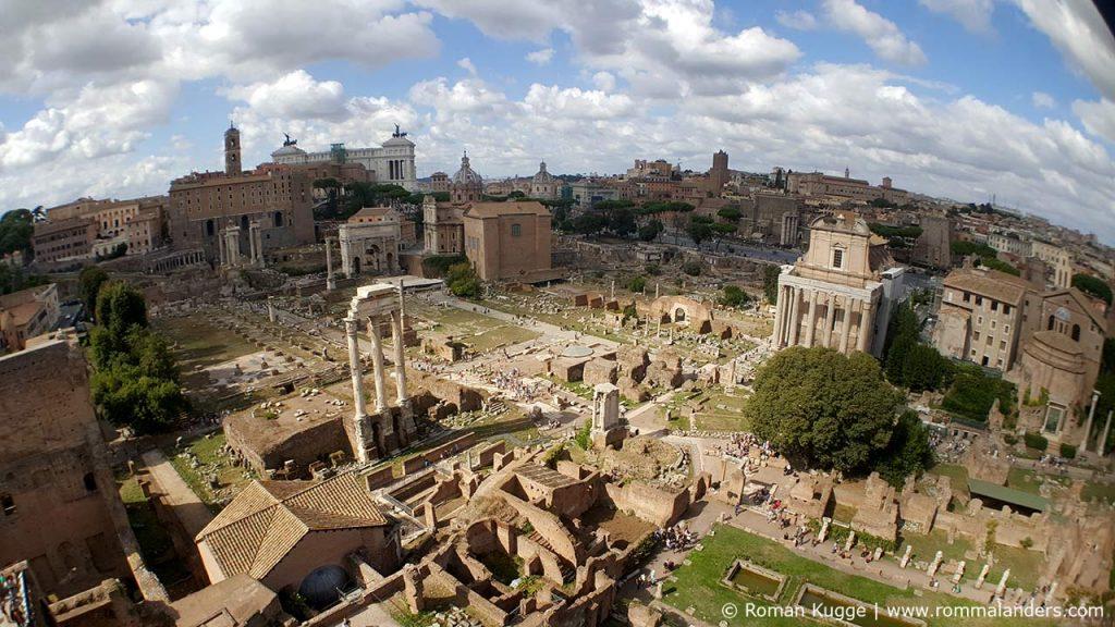 Ausblick Palatin-Hügel Forum Romanum