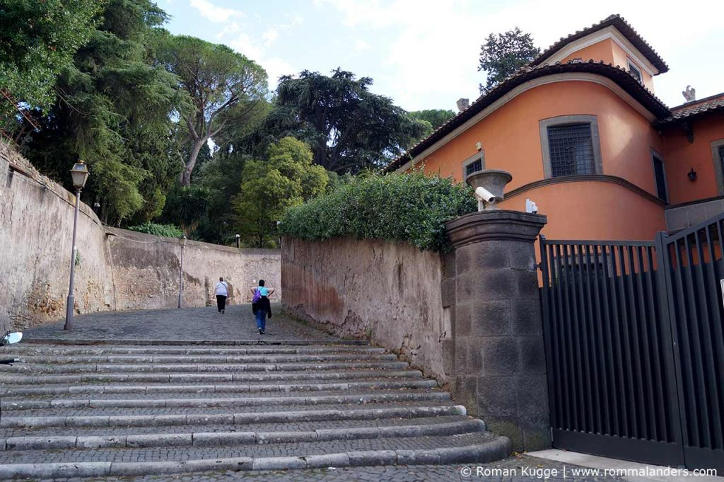 Aventin Hügel Rom Aufstieg