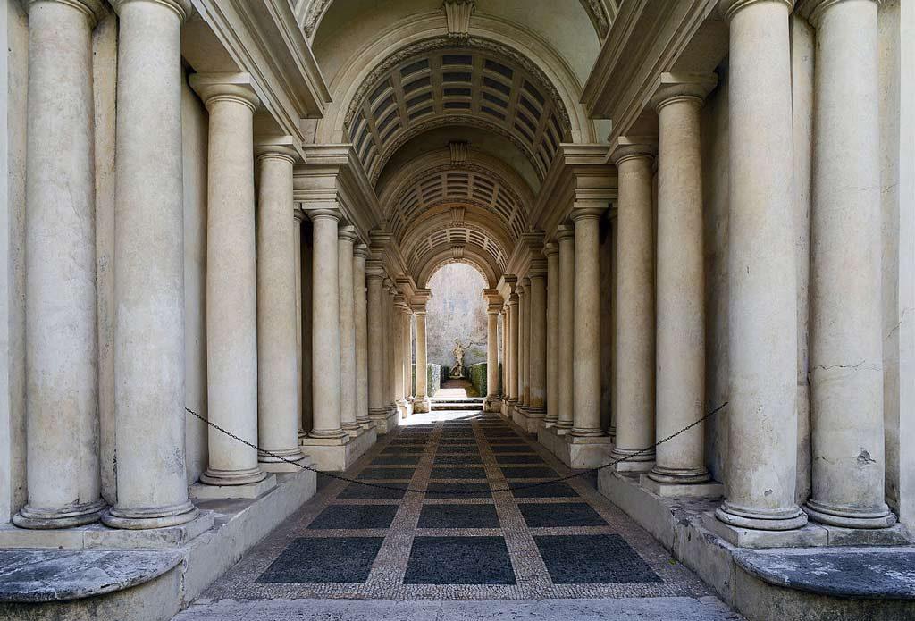 Galleria Spada optische Illusion