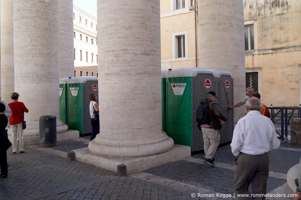 Toiletten Petersplatz Papstaudienz