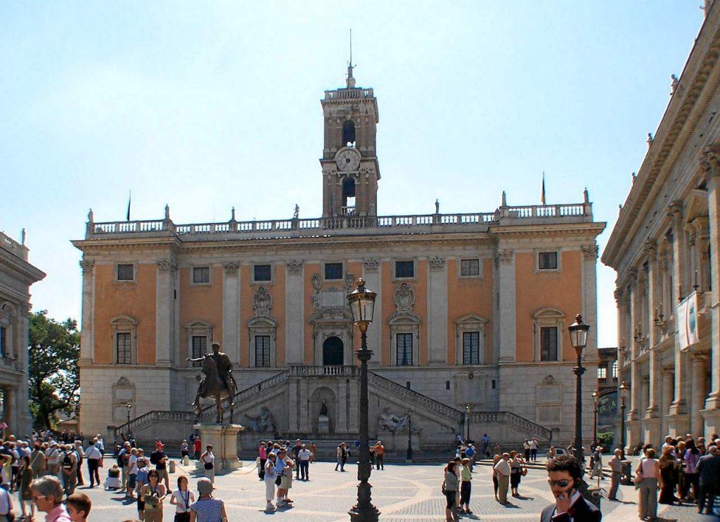 Vorplatz Palazzo Senatorio Kapitolinische Museen Rom