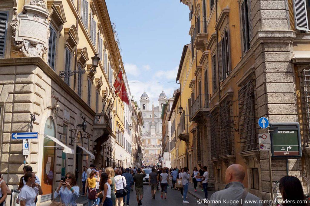 Via Condotti Rom Einkaufsstraße Spanische Treppe