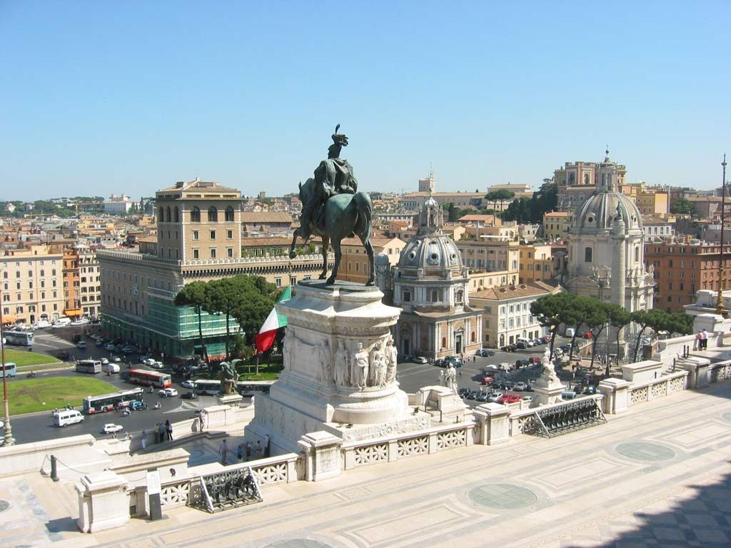 Ausblick Rom Il Vittoriano