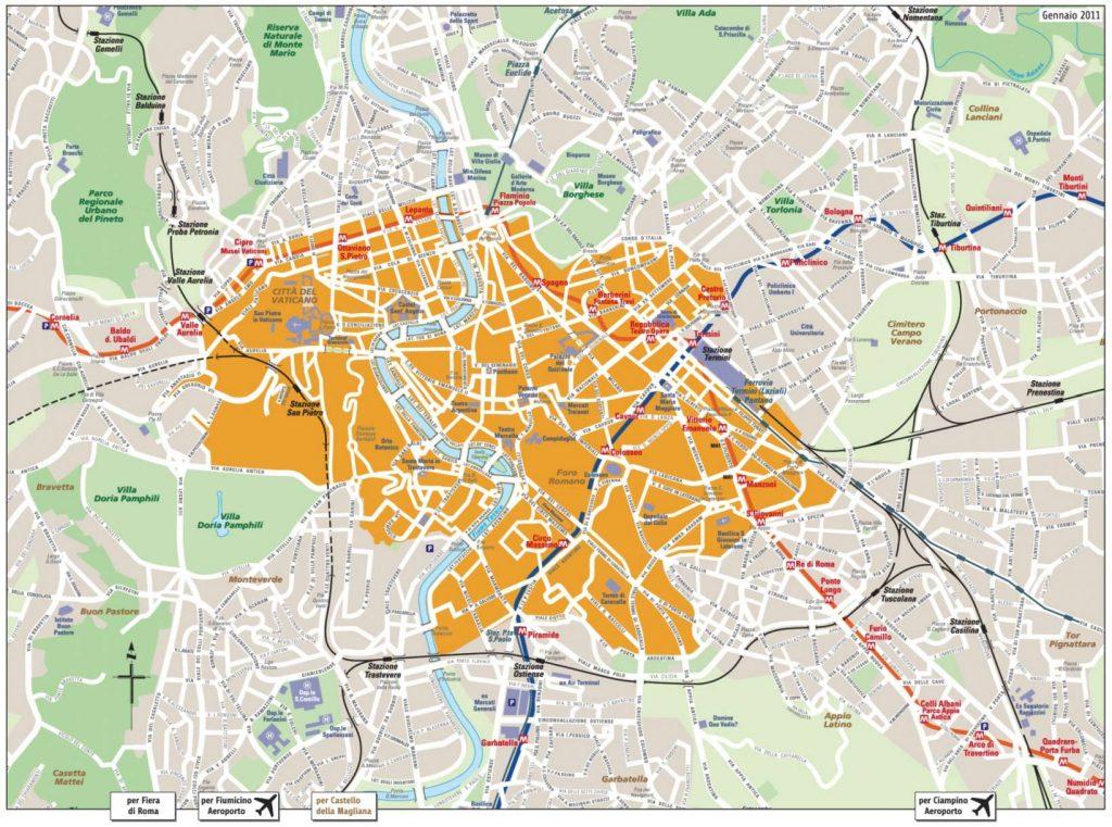 Taxis Rom Aurelianische Mauer Stadtgürtel Festpreise