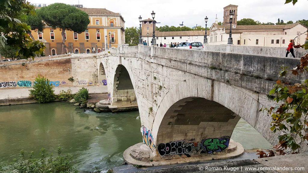 Brücke Ponte Cestio in Rom