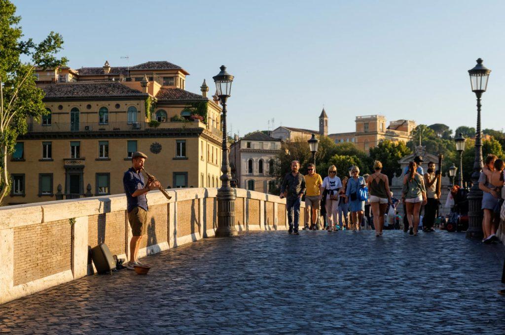Brücke Ponte Sisto Rom