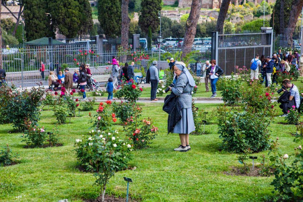 Roseto Roma Rosenpark in Rom