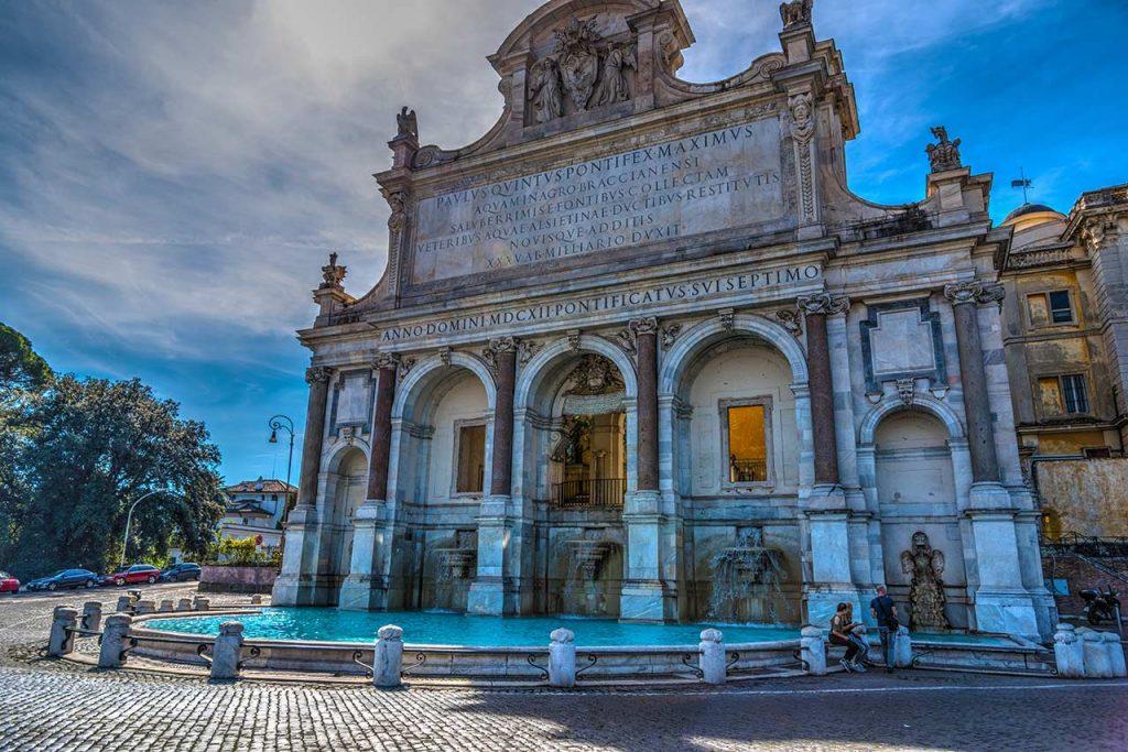 Brunnen Fontana dell'Acqua Paola in Rom