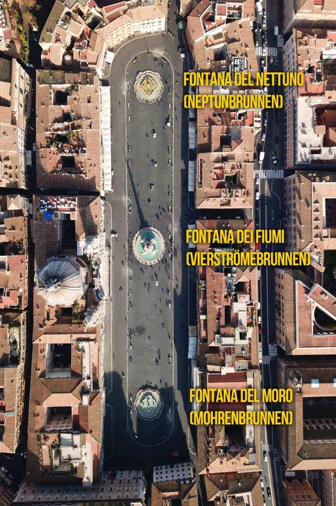 Brunnen auf der Piazza Navona