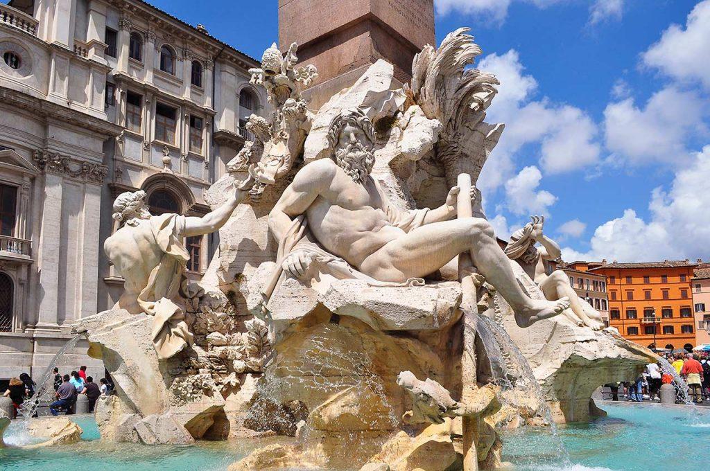 Fontana dei Quattro Fiumi Roma Piazza Navona