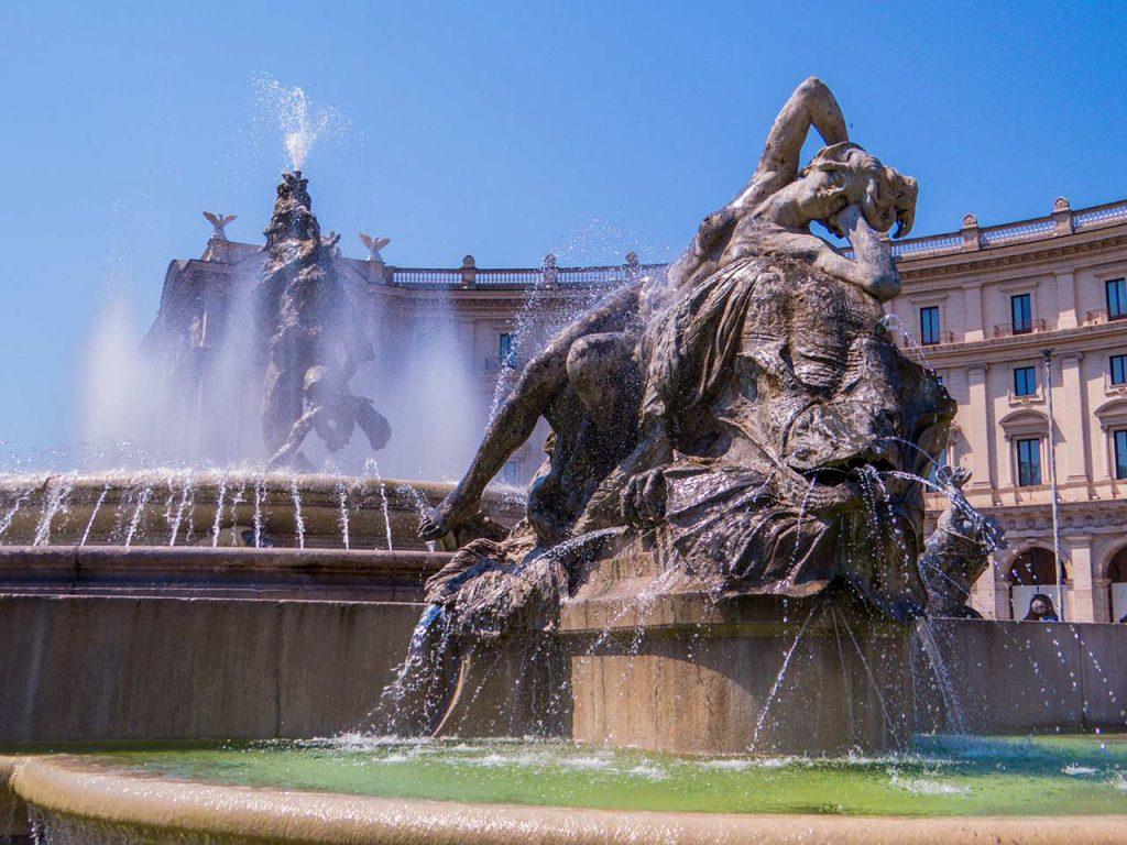 Fontana delle Naiadi Brunnen Rom